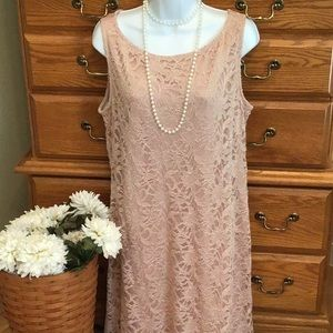 Beige Lace Dress From Tiana B.  Never Worn